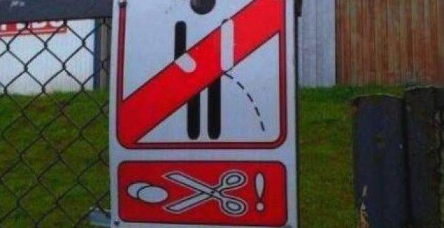 Prohibido orinar