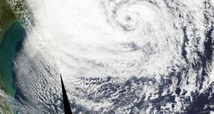 Huracán Sandy desde el Espacio