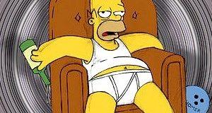 hommer simpson en el sofá